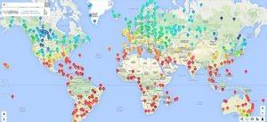 Weathermap Monde